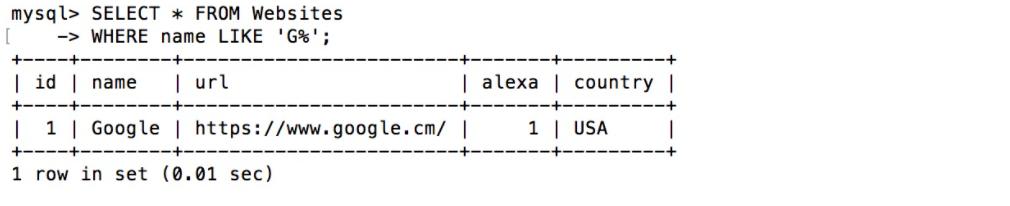 mysql教程,sql教程,mysql学习,sqllike操作符,like操作符,sqllike怎么用,sql搜索指定模式