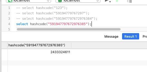 int 溢出问题,String.hashCode移植到 mysql 中,数据迁移,分库分表策略